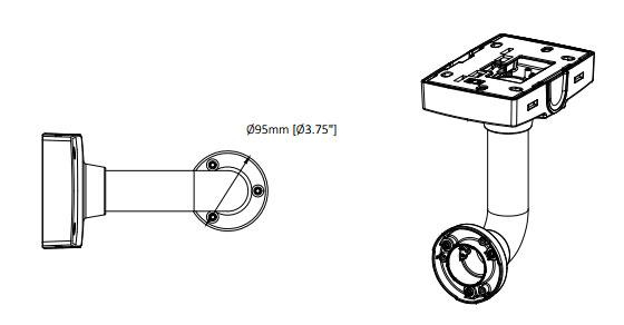 AXIS T91B61 壁面用マウント 図解1