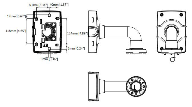 AXIS T91B61 壁面用マウント 図解3