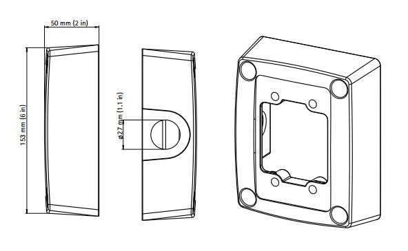 AXIS T94R01P コンジットバックボックス 図解1
