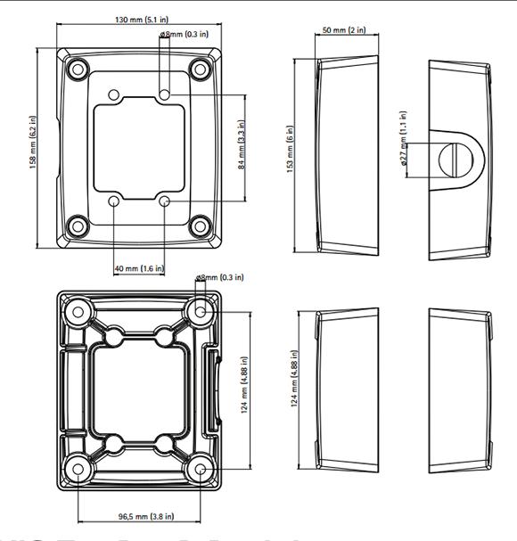 AXIS T94R01P コンジットバックボックス 図解2