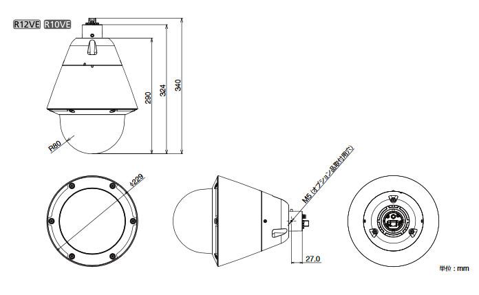 Canon VB-R12VE 図解1