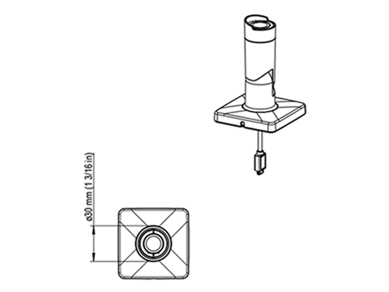 AXIS F1004 バレット 図解2