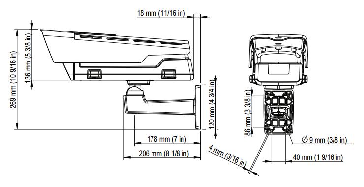 AXIS P1364-E 図解1