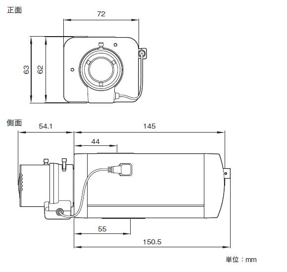 SONY SNC-VB600 図解1