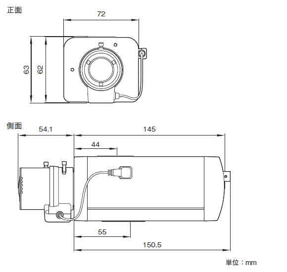 SONY SNC-VB630 図解1