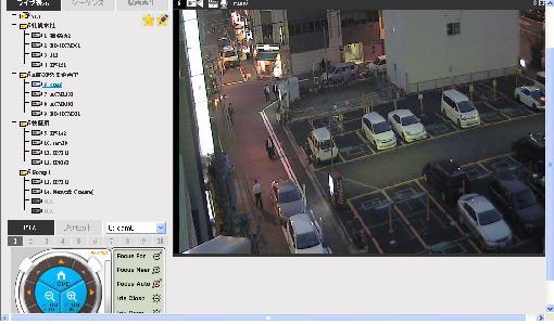 ネットワークカメラの遠隔地監視