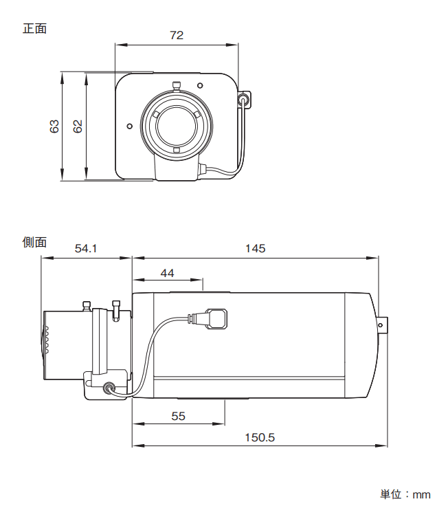 SNC-VB640 図解1