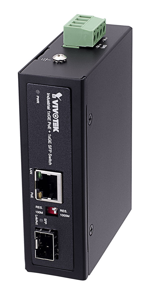 VIVOTEK AW-IHT-0200 産業用1xGE PoE + 1xGE SFPスイッチ