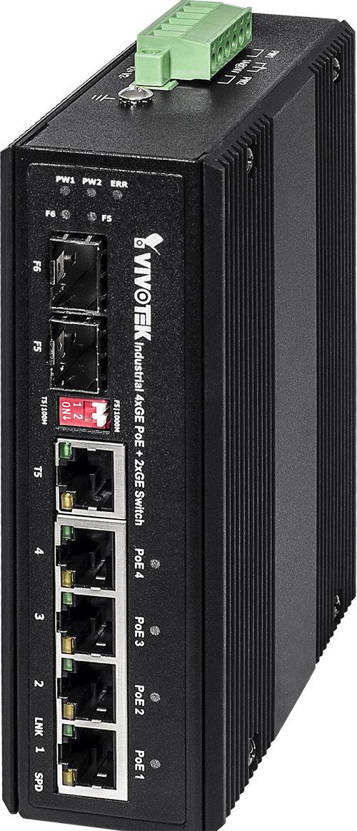 VIVOTEK AW-IHT-0601 産業用4xGE PoE + 1xGEコンボ+ 1xGE SFPスイッチ