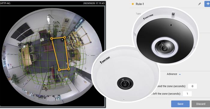 12MPフィッシュアイ(魚眼)AIカメラ~VIVOTEK Smart 360 VCA機能~