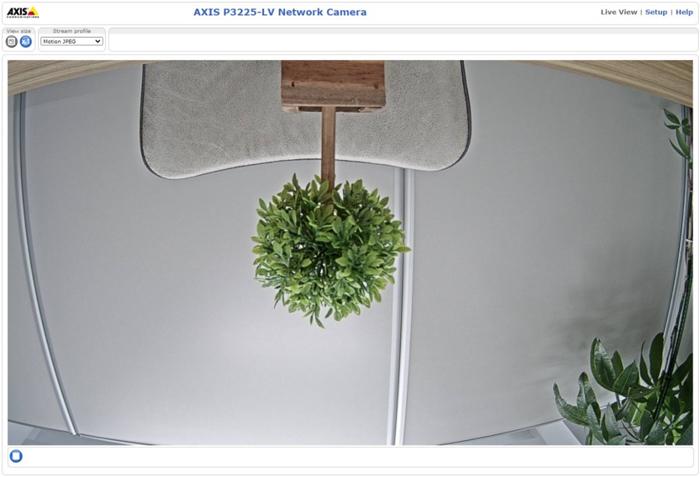 AXISネットワークカメラ 映像反転の対処手順1