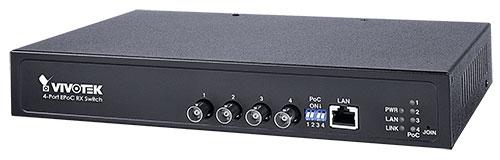 VIVOTEK AW-FCT-050A-250 4ポートのアンマネージドEPoCスイッチ
